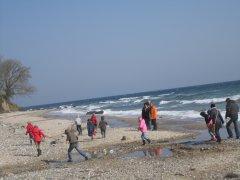 Ostereiersuche am Strand
